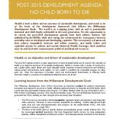 Post 2015 Health Lobby Brief