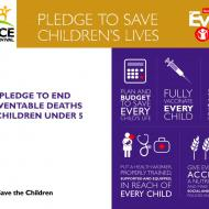 Race for Survival Pledge to save children's lives 2014