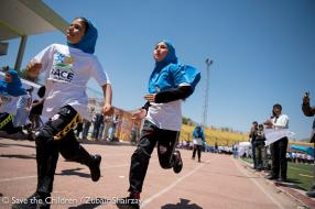 Afghanistan's First Lady's message for children running Race for Survival