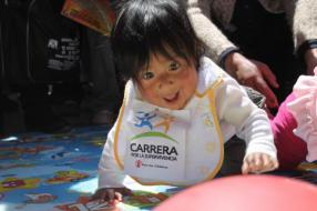 Babies and mothers join Race for Survival in Bolivia