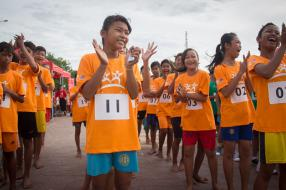 Cambodian Children Demand for Lower Stunting Rates at Race for Survival
