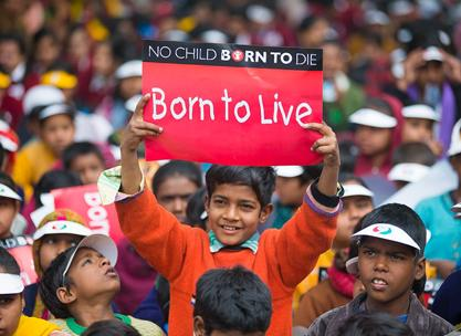 Children make a noise against child deaths